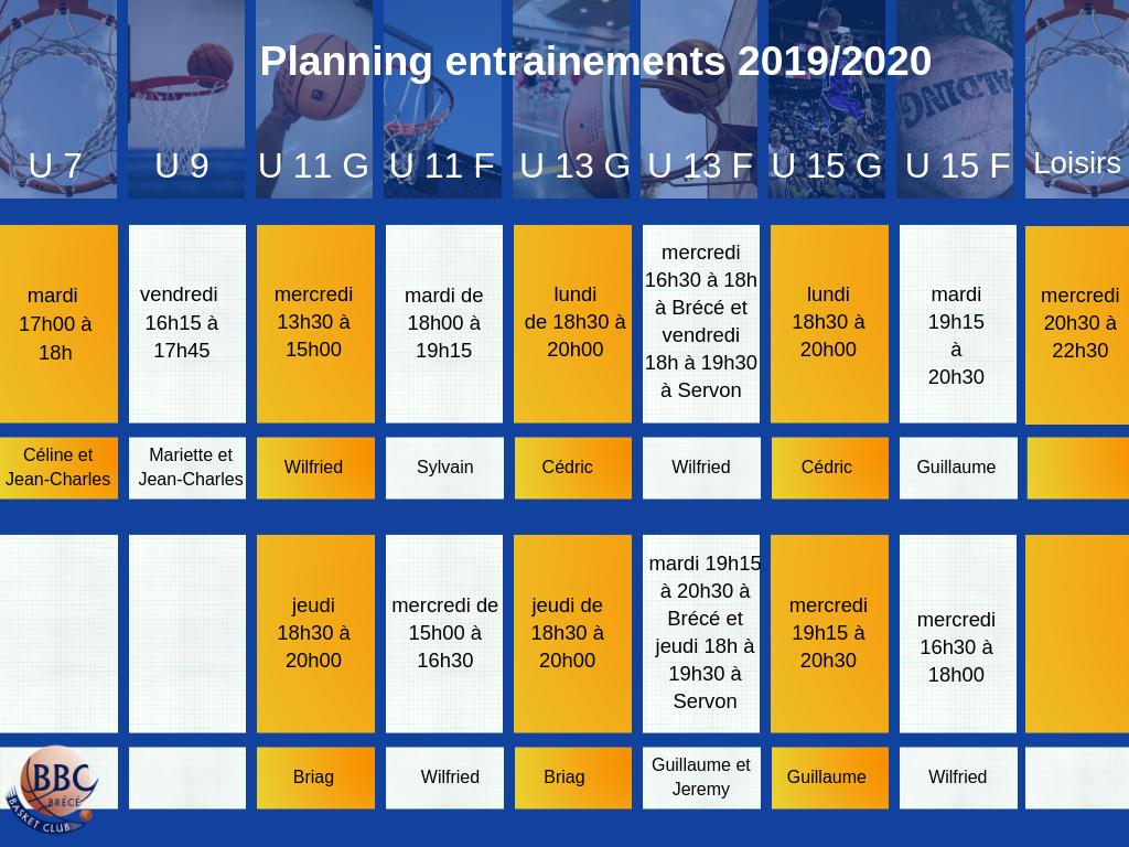 Entrainements 2019/2020